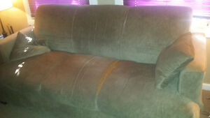 FREE beige couch perfect for garage or man cave