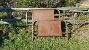 Antique Metal Bed Frame and Head Boards