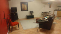 Spacious, fully furnished,all inclusive 1 bedroom basement apart
