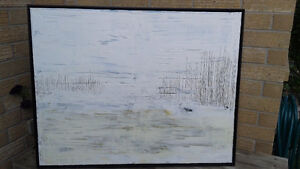 Original one of a kind framed painting