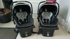Two Britax B-Safe Infant Car Seats