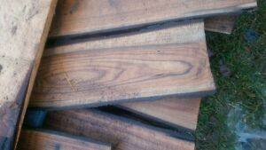 "Black Walnut 1"" thick boards 2.00 a board foot"