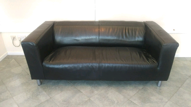 Miraculous Cheap Ikea Klippan Black Leather Sofa For Sale Couch Settee In Taunton Somerset Gumtree Machost Co Dining Chair Design Ideas Machostcouk