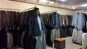 Zara, CK, BR suits $39, blazers $19, Boss Suits $99, Blazers $49