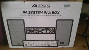 Brand new PA system with amplifier