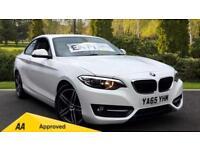 2015 BMW 2 Series 218d (150) Sport 2dr Manual Diesel Coupe