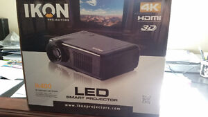 Ikon projector and 72 inch Screen