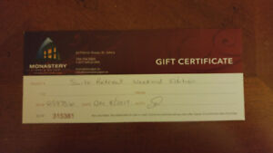 ***SPA AND MONASTERY GIFT CERTIFICATE***