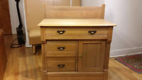 COMMODE EN BOIS solid wood chest