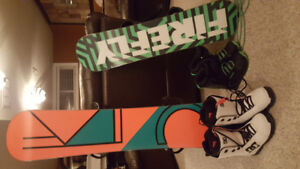 Brand new snowboards and boots