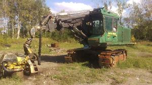 Abatteuse, Multi fonctionnel, Timberjack 618, tête Waratah 762c.