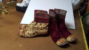 3 paires de bottes en velours taille 41