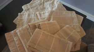Cloth placemats and napkins