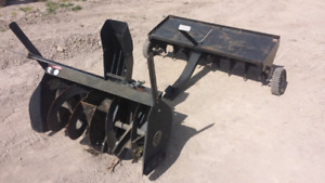 Snowblower attachment and areator