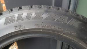 4 pneus d'hiver Blizzak 195 55  r16