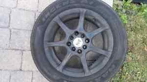 Mags avec pneus d'été/tire with rims Gatineau Ottawa / Gatineau Area image 2