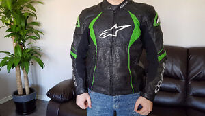 Alpinestars GPR Green Leather Motorcycle Jacket