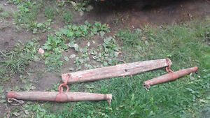 LARGE antique yoke have lots more horse collectables