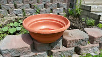 Red Clay Vinyl FLOWER POTS / PLANTERS