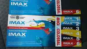 7 iMax tickets for $50