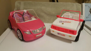 Barbie Vehicles and Cases