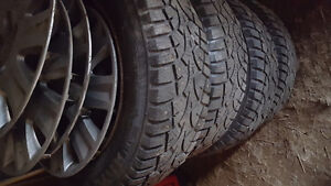 (4) 185/65/15 Studded Winter Tires On Rims 5X114.3. $399 OBO!