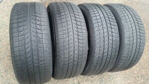4 MICHELIN X ICE 225/50R/18 INCH TIRES WITH LOTS OF TREAD