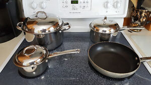Stainless Steel Pots and Pans Set, With Lids Slightly Used