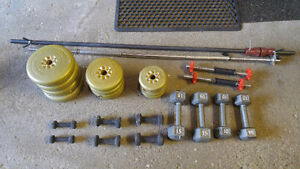 Assorted Weights, Bars, Equipment