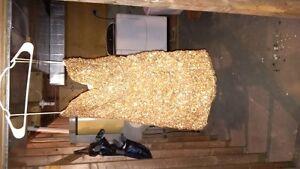 vegas gold sequin dress