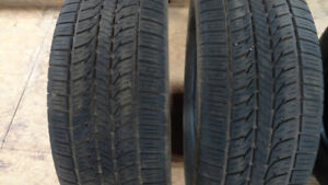 Pair of  225/60 R16 tires for sale.  $80.00