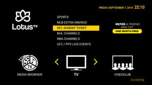 ★ IPTV SERVICE & BOX ★ CANADIAN , USA  , MLB, NHL, NFL NBA