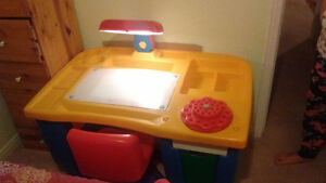 study table and chair for kids Kitchener / Waterloo Kitchener Area image 1