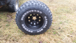 ONE 33 inch tire on rim