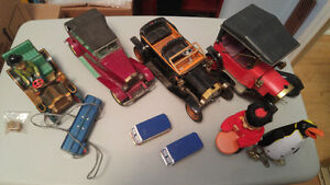 Lot of vintage tin toys. Made in Japan.