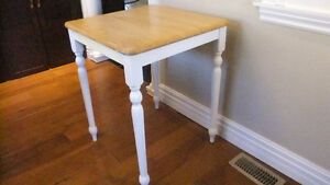 kitchen butcher block table in great shape
