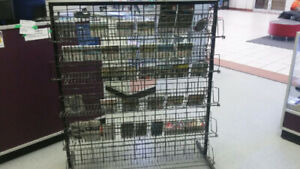 Display Rack with wire shelves