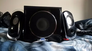 Great Speaker Set! Sub Woofer And Two Speakers Only $60