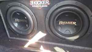 2 12 inch pioneer premier with hifonics amp 2000 RMS system