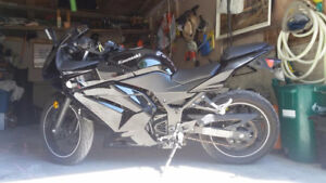 Kawasaki Ninja 250Ex ( moded dashboard and exhaust)