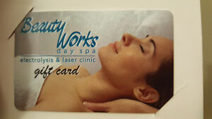 Beauty Works gift card worth $75 selling for $65