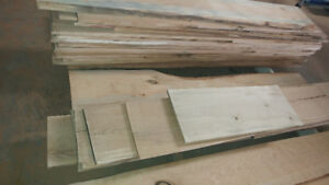 Dark Cherry and Hickory Lumber