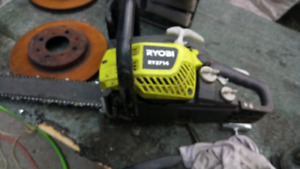 Gas Chainsaw Ryobi model 3714 14 inch Bar