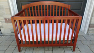 Cherry wood baby crib without matress
