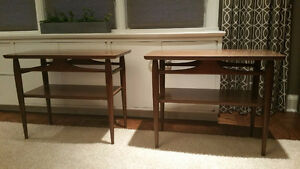 2 Mid Century Modern Side Tables