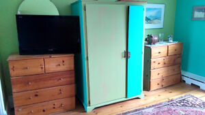 3 Chests of drawers and armoire