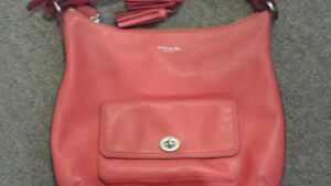 brand new red coach purse never used real