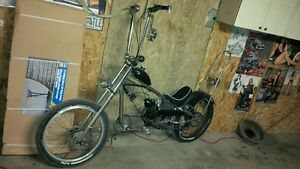 chopper bike with a motor