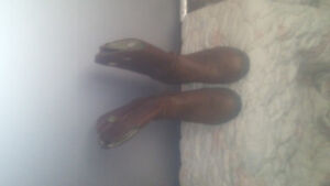 MENS STEEL TOE LEATHER COWBOY BOOTS