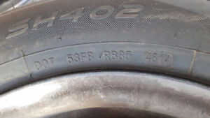 185 65 14 almost new Tires on 09 Accent rims Peterborough Peterborough Area image 4